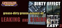 LC Leaking and Stains - grease dirty grease and exhaust oil