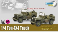 1:72 4 x 4 1/4 Ton Truck US Army Western Front 1944 + 40ist Glider Infantry Rgt 1944