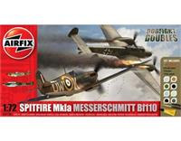 1:72 Double : Spitfire Mk1A & BF110C/D