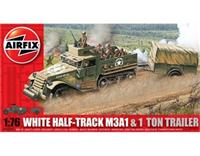 1:76 White Half-Track M3A1 and 1 Ton Trailer - available while stock lasts