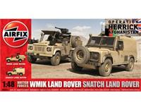 1:48 * WMIK Land Rover and a Snatch Land Rover (Twin pack)