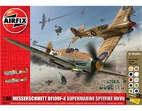 1:48 Dogfight Double Spitfire MkVB/BF109F