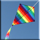 Clouds Diamond Kite - Single String