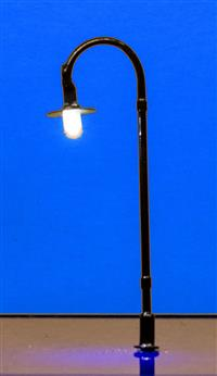 Black Goose Neck N Scale Street Lamp LED (Pack of 3)