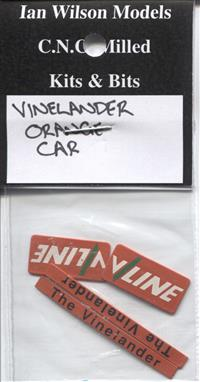 Vinelander Car (Orange) signs x 1 car