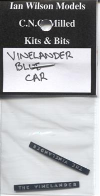 Vinelander Car (Blue) signs x 1 car