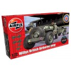 1:72 Willys Jeep Trailer and 6PDR Gun