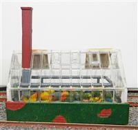 Glass House. 7cmx4cmx7cm. Very Good Condition.