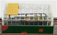 Glass House. 7cmx4cmx5cm. Very Good Condition.