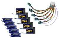 Zen Decoder 218. 8 pin and 21 pin connector. 4 function. Includes Stay Alive. (5 Pack).